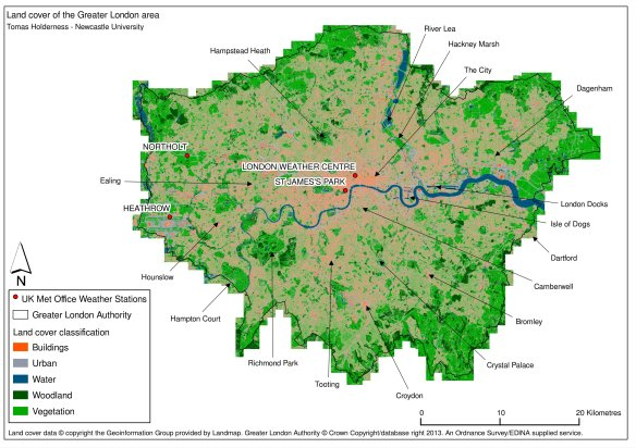 London land cover map